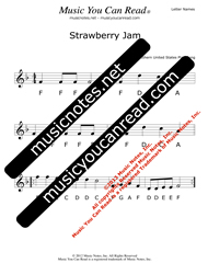"Click to Enlarge: ""Strawberry Jam"" Letter Names Format"
