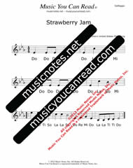 "Click to Enlarge: ""Strawberry Jam"" Solfeggio Format"