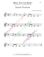 """Sweet Potatoes"" Music Format"