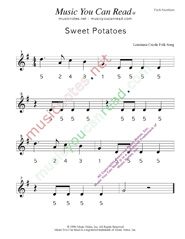 "Click to Enlarge: ""Sweet Potatoes"" Pitch Number Format"