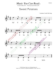 "Click to Enlarge: ""Sweet Potatoes"" Rhythm Format"