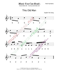 "Click to Enlarge: ""This Old Man"" Pitch Number Format"