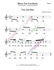 "Click to Enlarge: ""This Old Man"" Solfeggio Format"