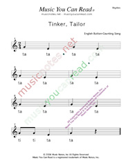 "Click to Enlarge: ""Tinker, Taylor"" Rhythm Format"