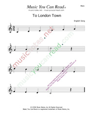"""To London Town"" Music Format"