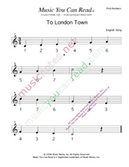 "Click to Enlarge: ""To London Town"" Pitch Number Format"