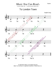 "Click to Enlarge: ""To London Town"" Rhythm Format"