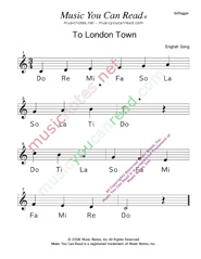 "Click to Enlarge: ""To London Town"" Solfeggio Format"
