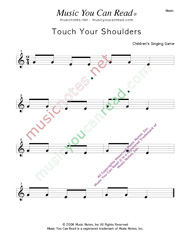 """Touch Your Shoulders"" Music Format"
