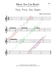 """Two, Four, Six, Eight"" Music Format"