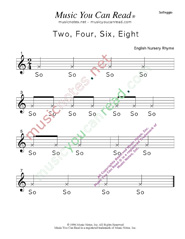"Click to Enlarge: ""Two, Four, Six, Eight"" Solfeggio Format"