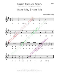 "Click to enlarge: ""Wake Me, Shake Me"" Beats Format"