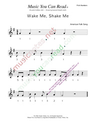 "Click to Enlarge: ""Wake Me, Shake Me"" Pitch Number Format"