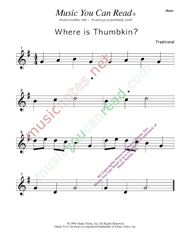 """Where is Thumpkin"" Music Format"