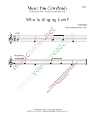 """Who is Singing Low?"" Music Format"