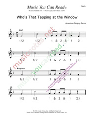 "Click to enlarge: ""Who's That Tapping at the Window?"" Beats Format"