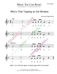 "Click to Enlarge: ""Who's That Tapping at the Window?"" Pitch Number Format"