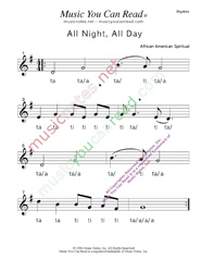 "Click to Enlarge: ""All Night, All Day"" Rhythm Format"