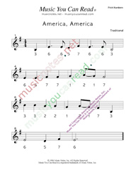 "Click to Enlarge: ""America, America"" Pitch Number Format"