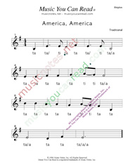 "Click to Enlarge: ""America, America"" Rhythm Format"