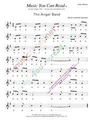 "Click to Enlarge: ""The Angel Band"" Letter Names Format"