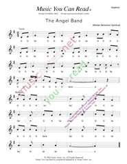 "Click to Enlarge: ""The Angel Band"" Rhythm Format"