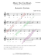 "Click to Enlarge: ""Autumn Comes"" Pitch Number Format"
