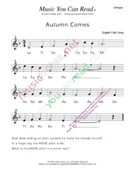 "Click to Enlarge: ""Autumn Comes"" Solfeggio Format"