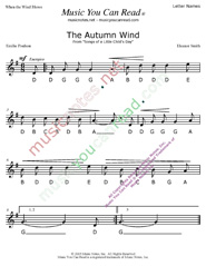 "Click to Enlarge: ""The Autumn Wind"" Letter Names Format"