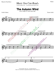 """The Autumn Wind"" Music Format"
