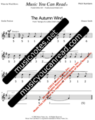 "Click to Enlarge: ""The Autumn Wind"" Pitch Number Format"