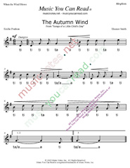 "Click to Enlarge: ""The Autumn Wind"" Rhythm Format"
