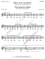 "Click to Enlarge: ""The Autumn Wind"" Solfeggio Format"