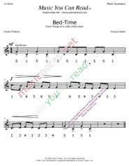 "Click to Enlarge: ""Bed Time"" Pitch Number Format"