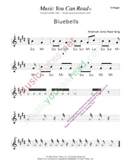"Click to Enlarge: ""Bluebells"" Solfeggio Format"