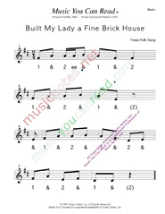 "Click to enlarge: ""Built My Lady a Fine Brick House"" Beats Format"