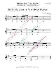 "Click to Enlarge: ""Built My Lady a Fine Brick House"" Pitch Number Format"