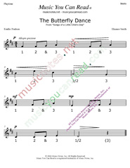 "Click to enlarge: ""The Butterfly Dance"" Beats Format"