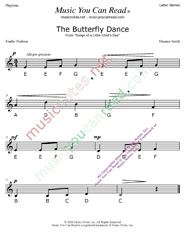 "Click to Enlarge: ""The Butterfly Dance"" Letter Names Format"