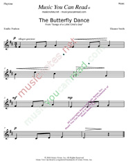 """The Butterfly Dance"" Music Format"