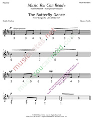 "Click to Enlarge: ""The Butterfly Dance"" Pitch Number Format"