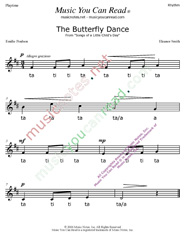 "Click to Enlarge: ""The Butterfly Dance"" Rhythm Format"