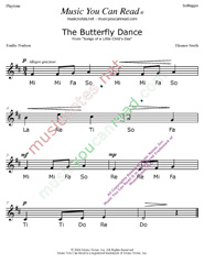 "Click to Enlarge: ""The Butterfly Dance"" Solfeggio Format"