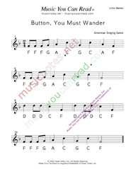 "Click to Enlarge: ""Button You Must Wander"" Letter Names Format"