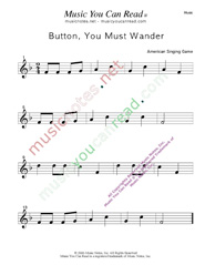 """Button You Must Wander"" Music Format"