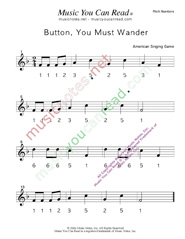"Click to Enlarge: ""Button You Must Wander"" Pitch Number Format"
