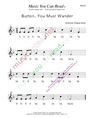 "Click to Enlarge: ""Button You Must Wander"" Rhythm Format"
