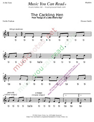 "Click to Enlarge: ""The Cackling Hen"" Rhythm Format"
