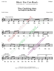 "Click to Enlarge: ""The Cackling Hen"" Solfeggio Format"