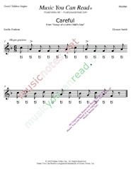 "Click to Enlarge: ""Careful"" Rhythm Format"